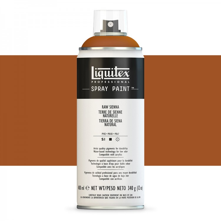 Liquitex : Professional : Spray Paint : 400ml : Raw Sienna : By Road Parcel Only