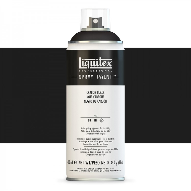 Liquitex : Professional : Spray Paint : 400ml : Carbon Black (By Road Parcel Only)