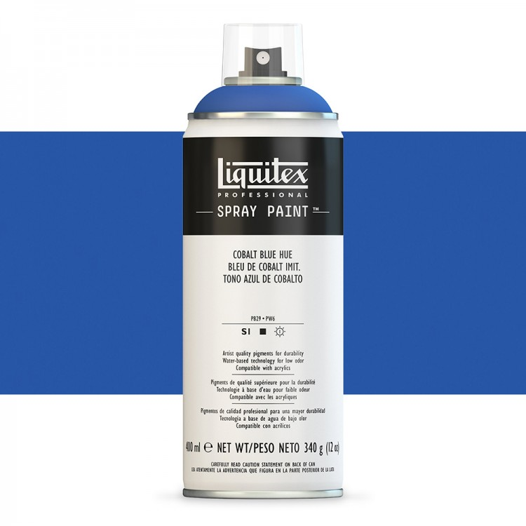 Liquitex : Professional : Spray Paint : 400ml : Cobalt Blue Hue (By Road Parcel Only)