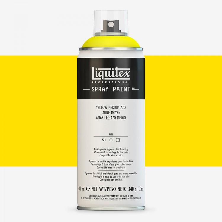 Liquitex : Professional : Spray Paint : 400ml : Yellow Medium Azo : Ship By Road Only