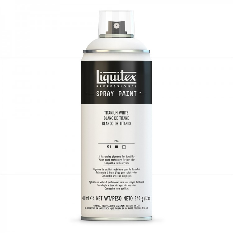 Liquitex : Professional : Spray Paint : 400ml : Titanium White (By Road Parcel Only)
