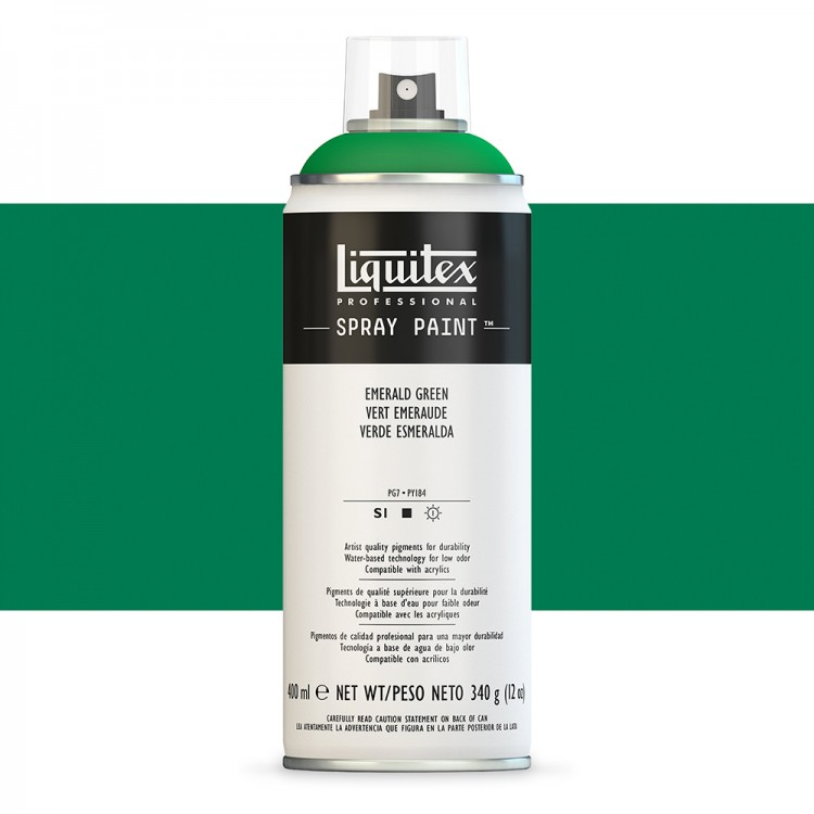 Liquitex : Professional : Spray Paint : 400ml : Emerald Green (By Road Parcel Only)