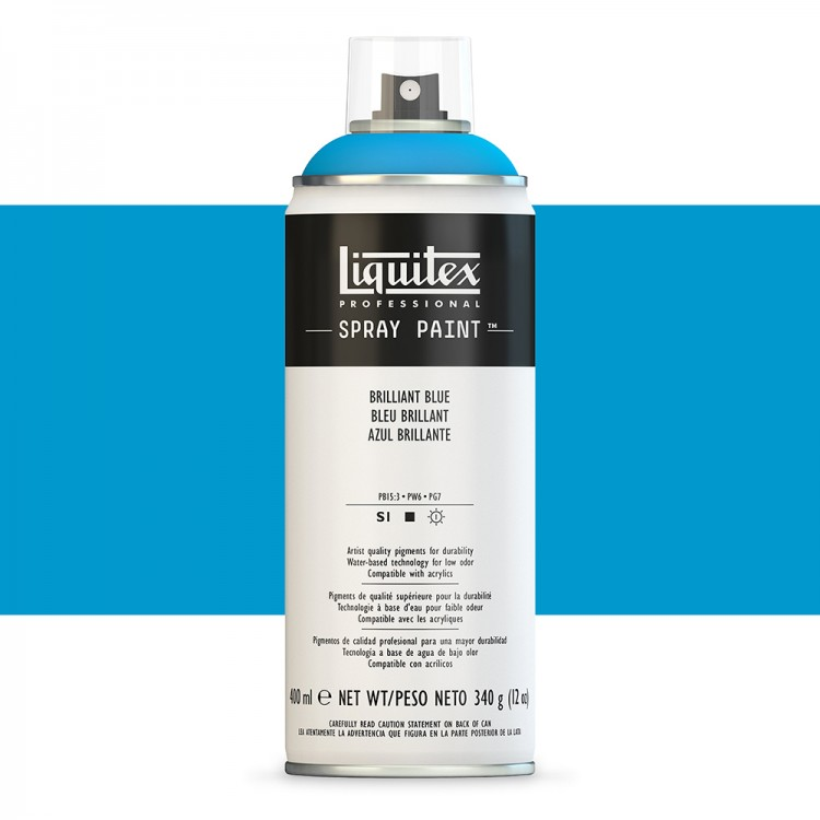 Liquitex : Professional : Spray Paint : 400ml : Brilliant Blue : By Road Parcel Only