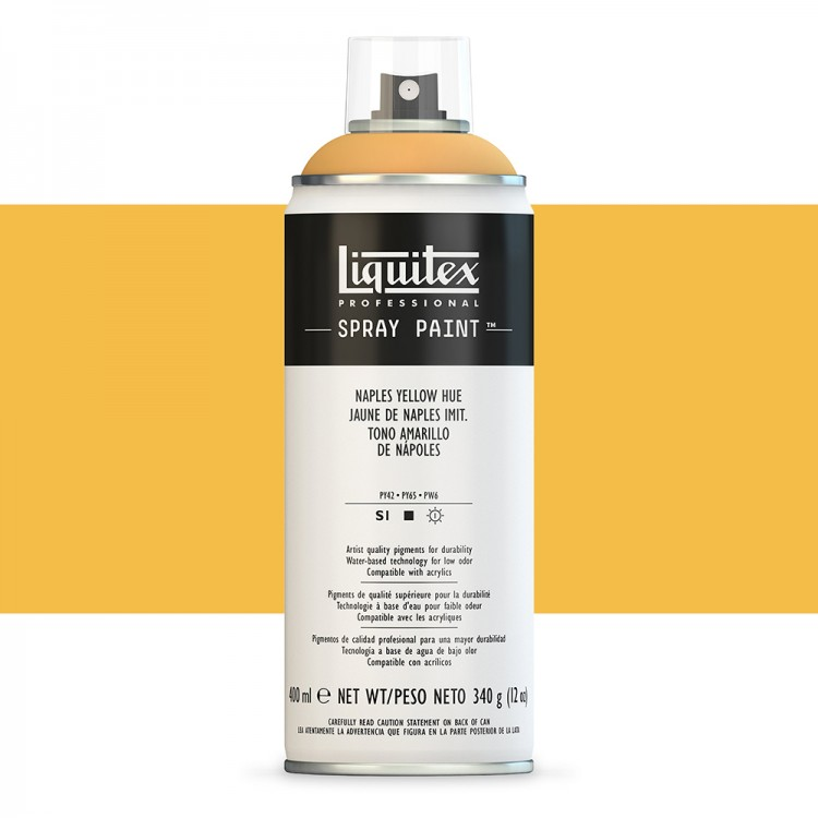 Liquitex : Professional : Spray Paint : 400ml : Naples Yellow Hue : By Road Parcel Only