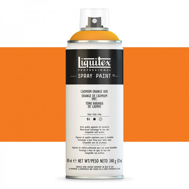 Liquitex : Professional : Spray Paint : 400ml : Cadmium Orange Hue (By Road Parcel Only)