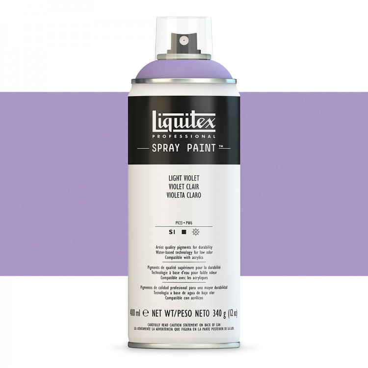 Liquitex : Professional : Spray Paint : 400ml : Light Violet : By Road Parcel Only