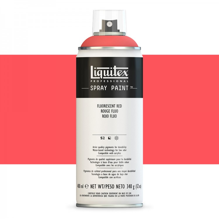 Liquitex : Professional Spray Paint : 400ml : Fluorescent Red (Road Shipping Only)