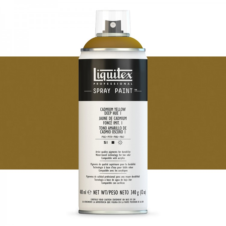 Liquitex : Professional : Spray Paint : 400ml : Cadmium Yellow Deep Hue 1 : By Road Parcel Only