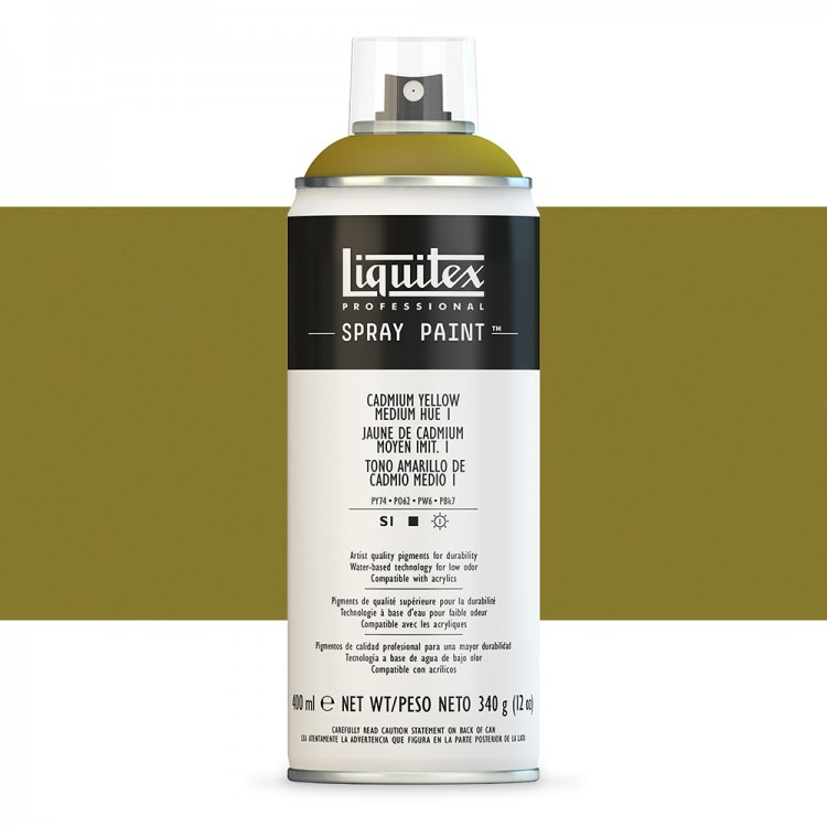 Liquitex : Professional : Spray Paint : 400ml : Cadmium Yellow Medium Hue 1 (By Road Parcel Only)