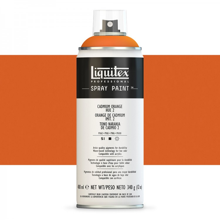 Liquitex : Professional : Spray Paint : 400ml : Cadmium Orange Hue 2 (By Road Parcel Only)