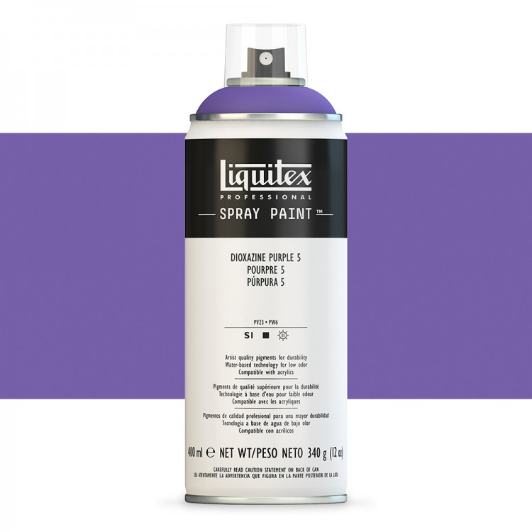 Liquitex : Professional : Spray Paint : 400ml : Dioxazine Purple 5 : By Road Parcel Only