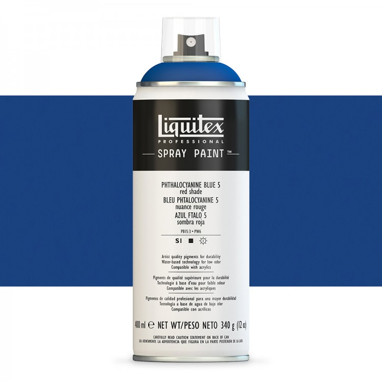 Liquitex : Professional : Spray Paint : 400ml : Phthalo Blue 5 (Red Shade) : By Road Parcel Only