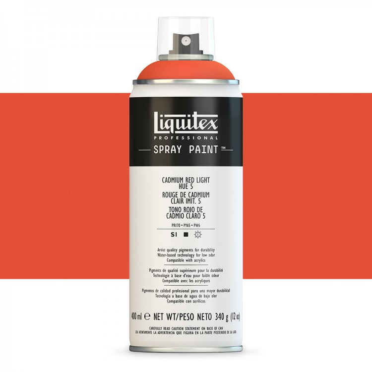 Liquitex : Professional : Spray Paint : 400ml : Cadmium Red Light Hue 5 (By Road Parcel Only)