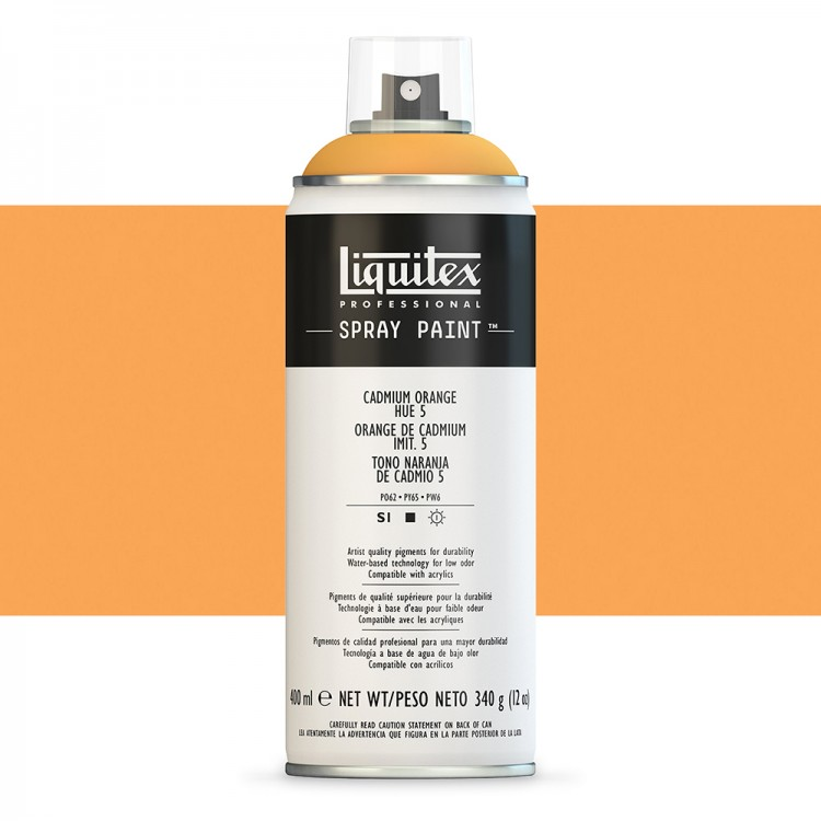 Liquitex : Professional : Spray Paint : 400ml : Cadmium Orange Hue 5 : By Road Parcel Only
