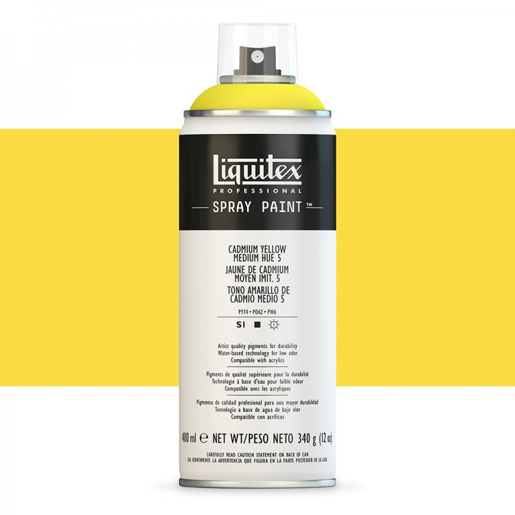 Liquitex : Professional : Spray Paint : 400ml : Cadmium Yellow Medium Hue 5 : By Road Parcel Only