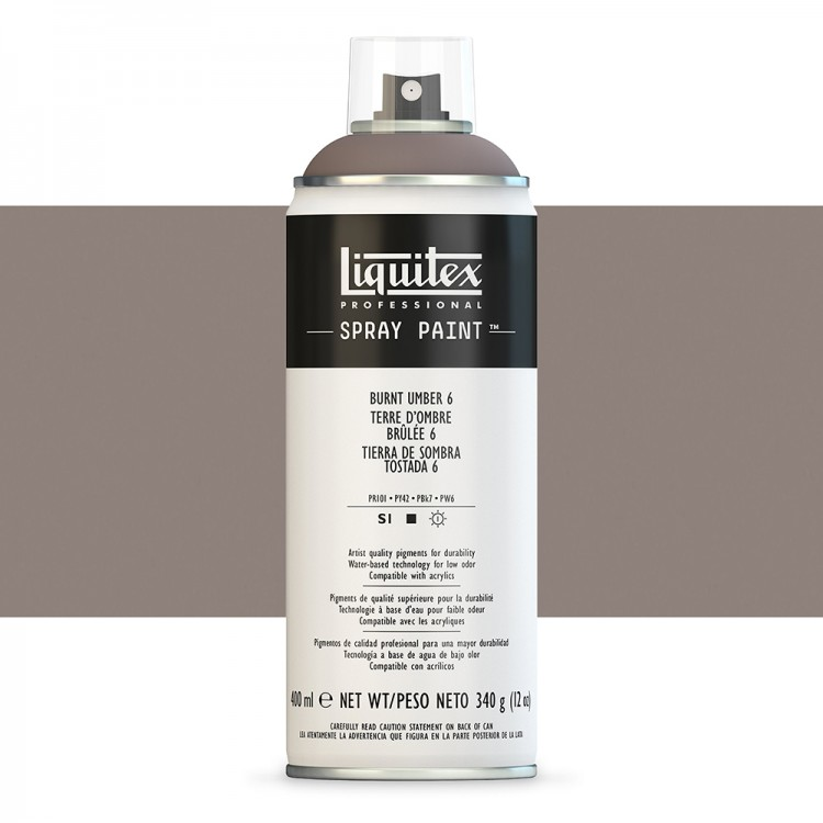 Liquitex : Professional : Spray Paint : 400ml : Burnt Umber 6 (By Road Parcel Only)