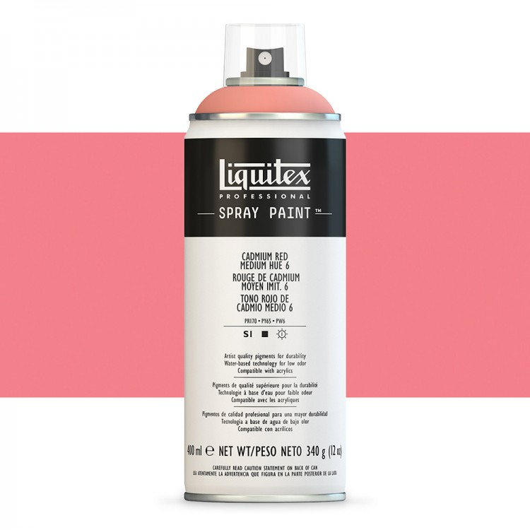 Liquitex : Professional : Spray Paint : 400ml : Cadmium Red Medium Hue 6 : Ship By Road Only