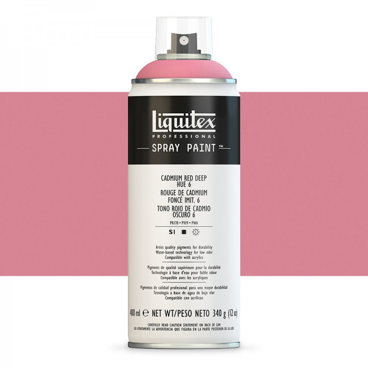 Liquitex : Professional : Spray Paint : 400ml : Cadmium Red Deep Hue 6 (By Road Parcel Only)