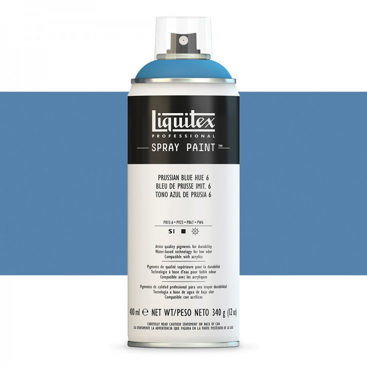 Liquitex : Professional : Spray Paint : 400ml : Prussian Blue Hue 6 (By Road Parcel Only)
