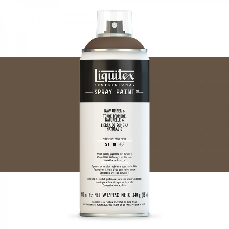 Liquitex : Professional : Spray Paint : 400ml : Raw Umber 6 : By Road Parcel Only