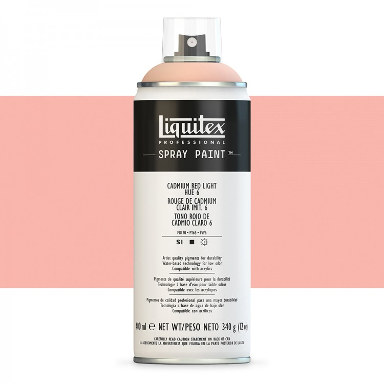 Liquitex : Professional : Spray Paint : 400ml : Cadmium Red Light Hue 6 (By Road Parcel Only)