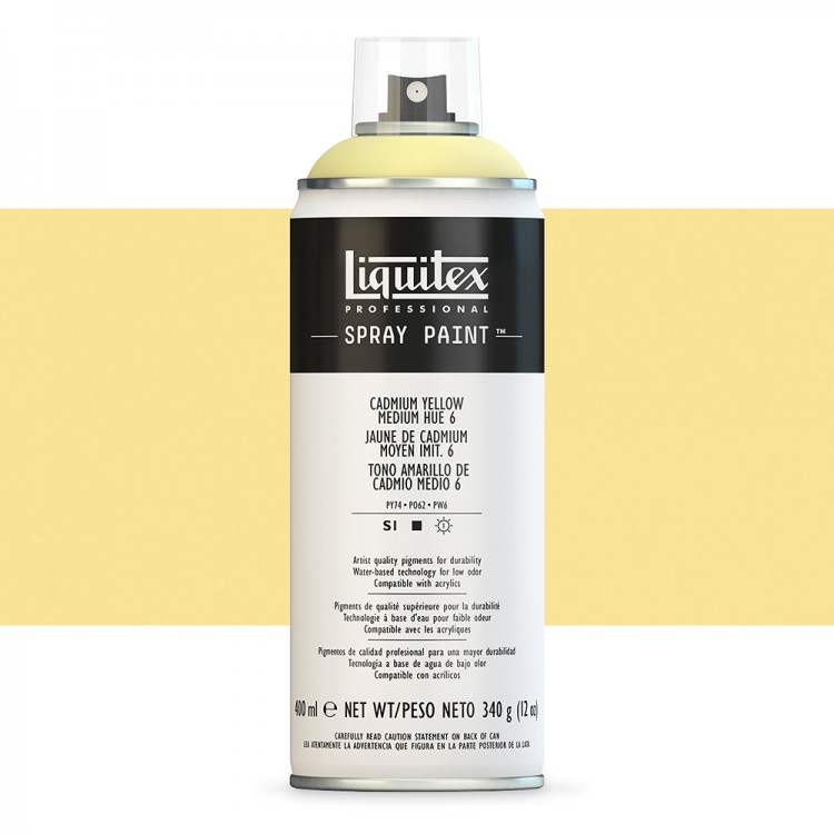 Liquitex : Professional : Spray Paint : 400ml : Cadmium Yellow Medium Hue 6 : By Road Parcel Only