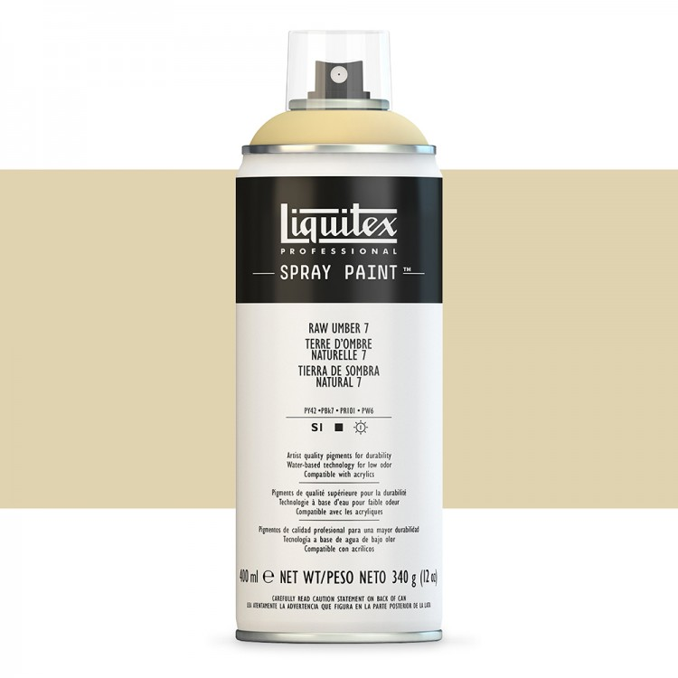 Liquitex : Professional : Spray Paint : 400ml : Raw Umber 7 (By Road Parcel Only)