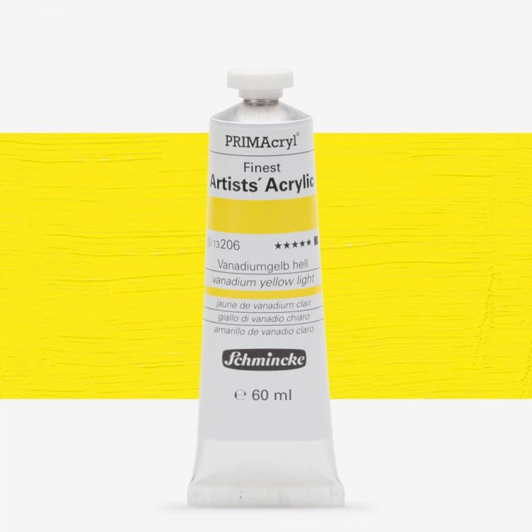 Schmincke : Primacryl Acrylic Paint : 60ml : Vanadium Yellow Light