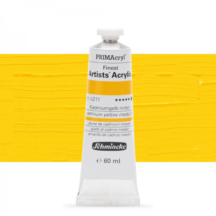 Schmincke : Primacryl Acrylic : 60ml : Cadmium Yellow Medium