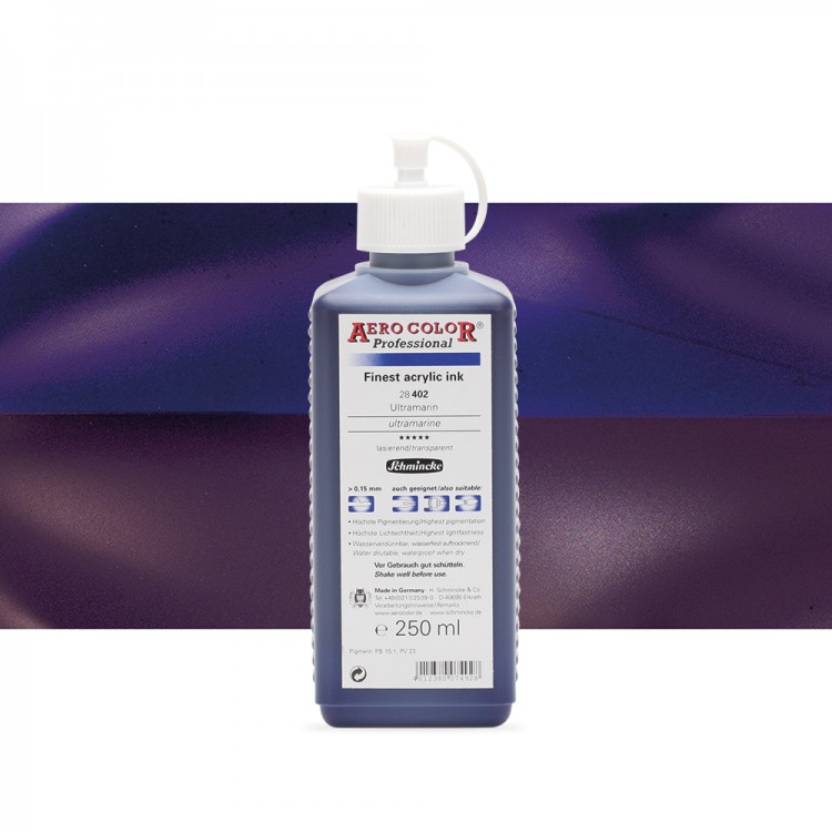 Schmincke : Aero Color Finest Acrylic Ink : 250ml : Ultramarine
