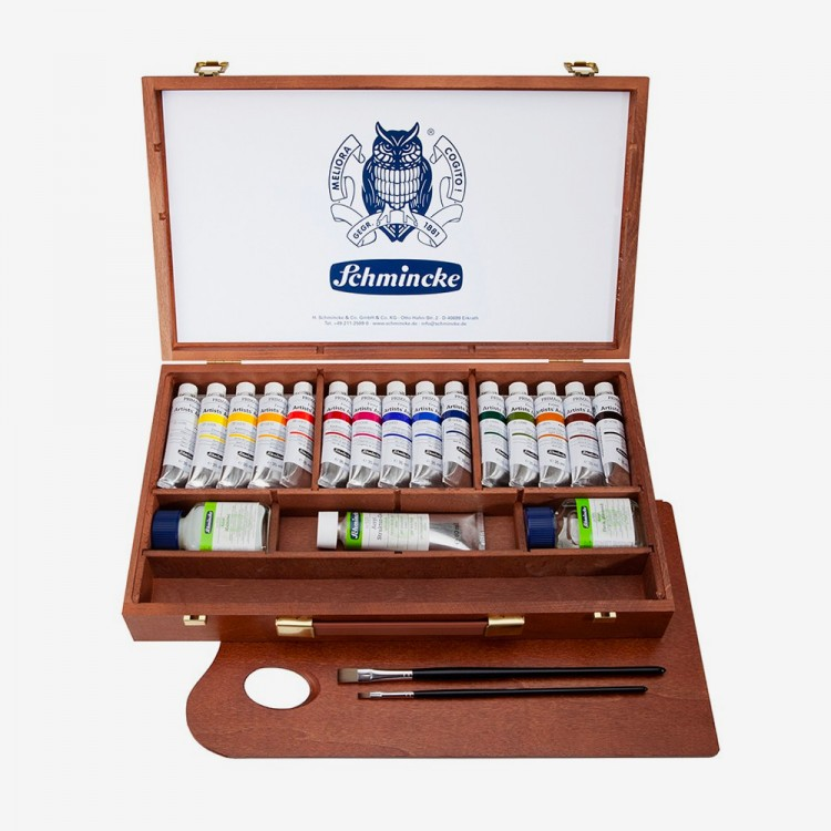 Schmincke : Primacryl Acrylic : Wood Box Set of 15 x 35ml Tubes