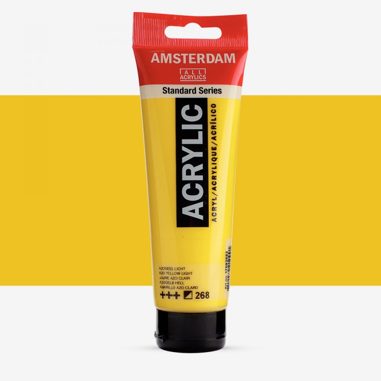 Talens : Amsterdam Standard : Acrylic Paint : 120ml : Azo Yellow Light