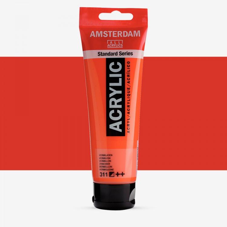 Talens : Amsterdam Standard : Acrylic Paint : 120ml : Vermilion