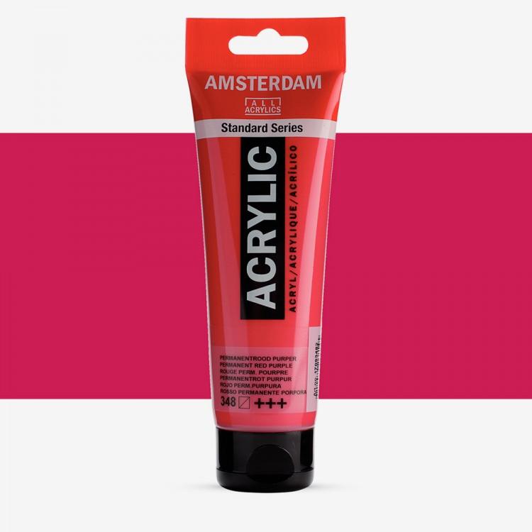 Talens : Amsterdam Standard : Acrylic Paint : 120ml : Permanent Red Purple