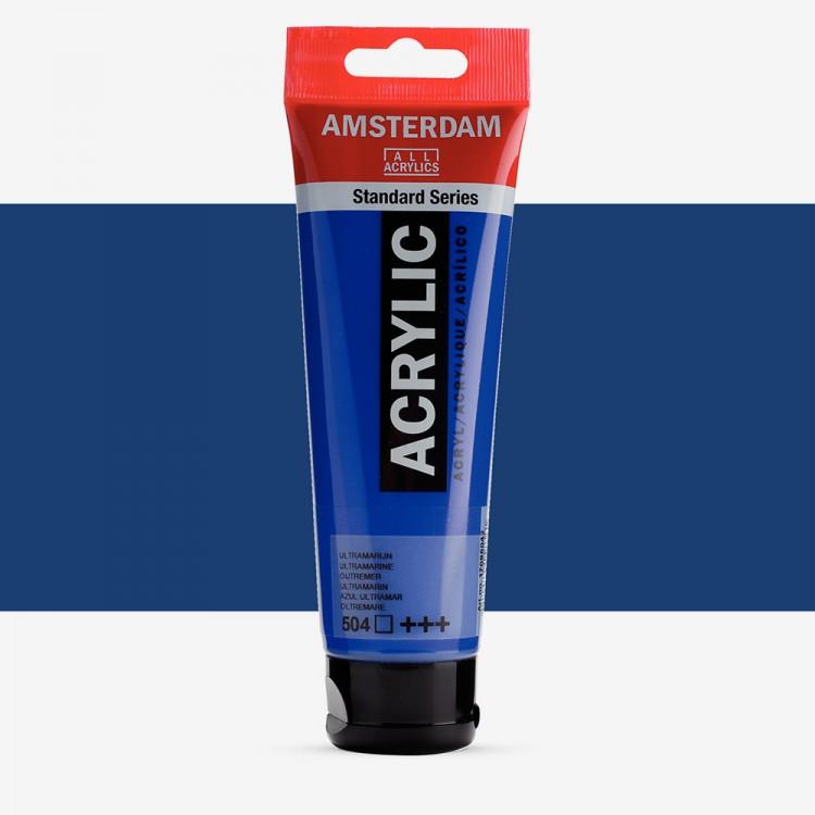 Talens : Amsterdam Standard : Acrylic Paint : 120ml : Ultramarine