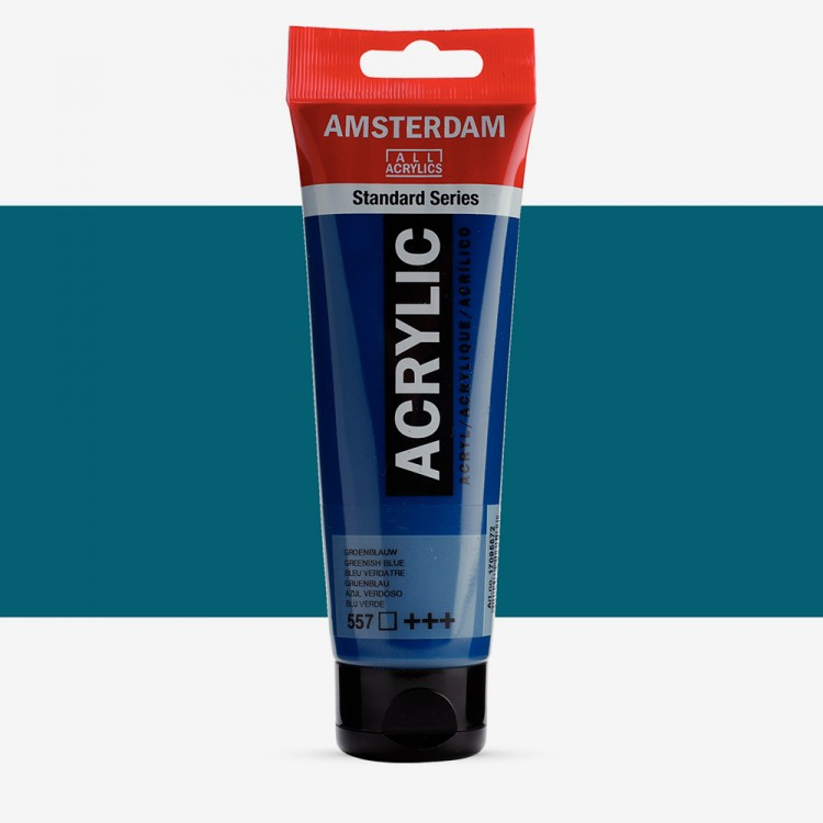 Royal Talens : Amsterdam Standard : Acrylic Paint : 120ml : Greenish Blue