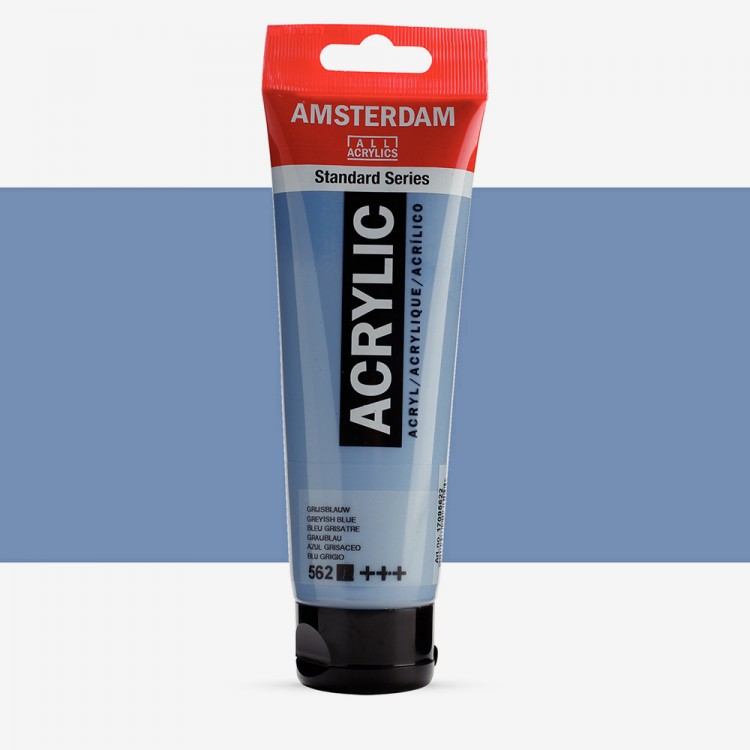 Royal Talens : Amsterdam Standard : Acrylic Paint : 120ml : Greyish Blue