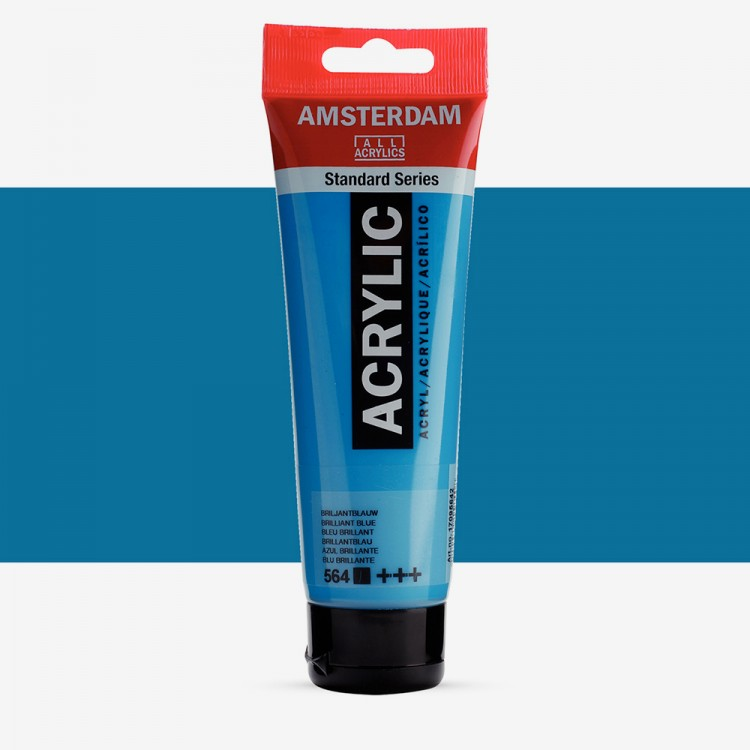 Talens : Amsterdam Standard : Acrylic Paint : 120ml : Brilliant Blue
