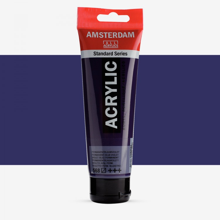 Talens : Amsterdam Standard : Acrylic Paint : 120ml : Permanent Blue Violet