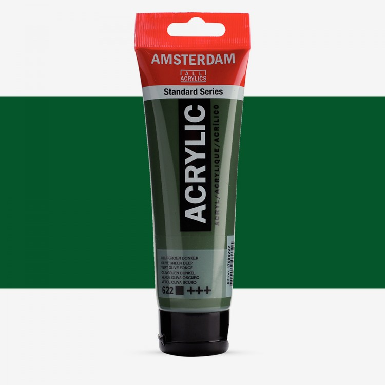 Royal Talens : Amsterdam Standard : Acrylic Paint : 120ml : Olive Green Deep