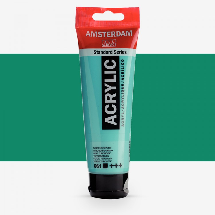 Talens : Amsterdam Standard : Acrylic Paint : 120ml : Turquoise Green