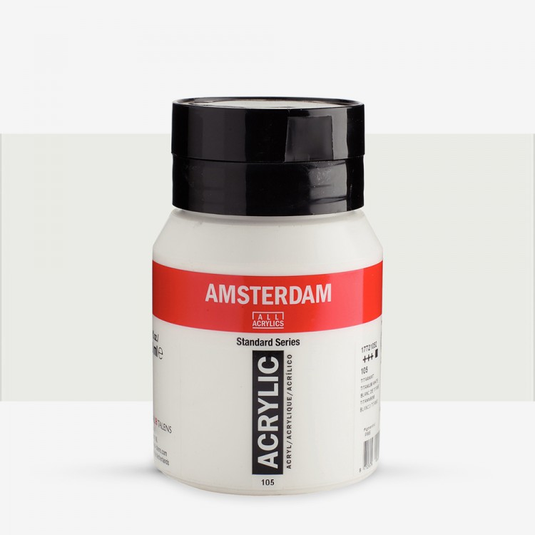 Talens : Amsterdam Standard : Acrylic Paint : 500ml : Titanium White