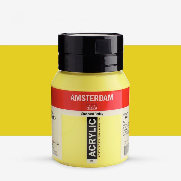 Talens : Amsterdam Standard : Acrylic Paint : 500ml : Azo Yellow Lemon