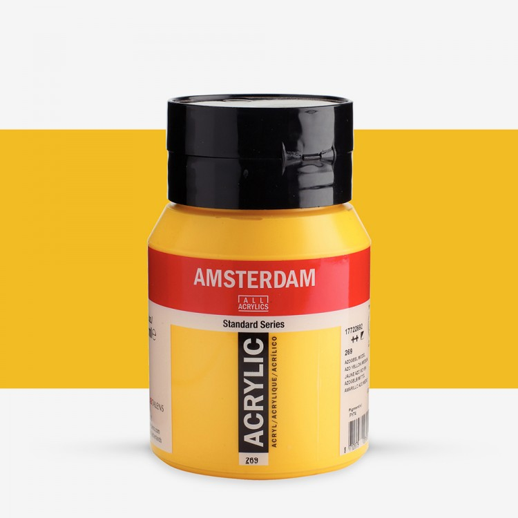 Talens : Amsterdam Standard : Acrylic Paint : 500ml : Azo Yellow Medium