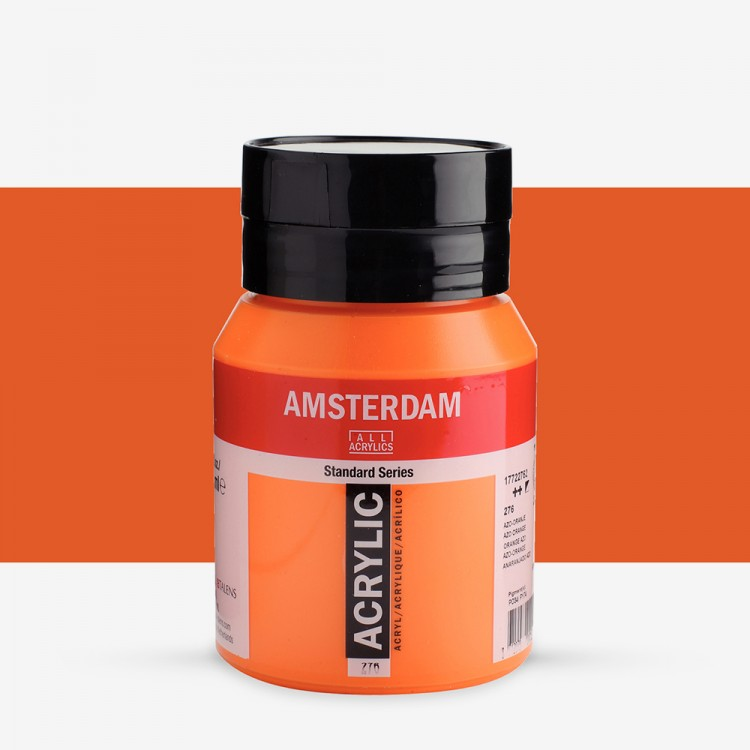 Talens : Amsterdam Standard : Acrylic Paint : 500ml : Azo Orange