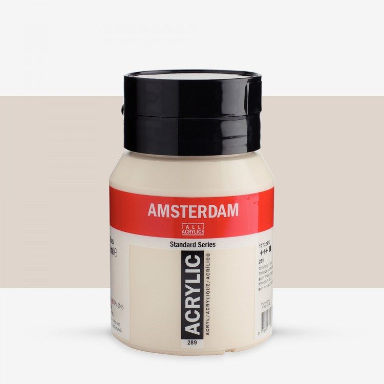 Talens : Amsterdam Standard : Acrylic Paint : 500ml : Titanium Buff Light