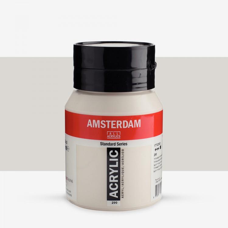 Talens : Amsterdam Standard : Acrylic Paint : 500ml : Titanium Buff Deep