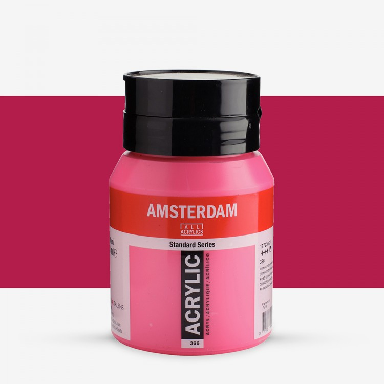 Talens : Amsterdam Standard : Acrylic Paint : 500ml : Quinacridone Rose