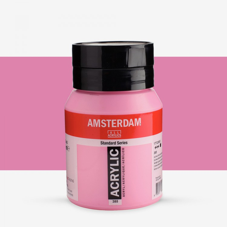 Royal Talens : Amsterdam Standard : Acrylic Paint : 500ml : Quinacridone Rose Light