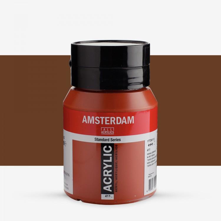 Talens : Amsterdam Standard : Acrylic Paint : 500ml : Burnt Sienna